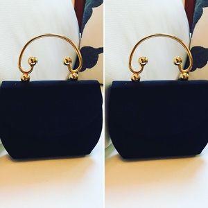 Vintage Talbots purse hand carry black pocketbook
